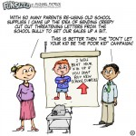 fun sized comic cartoon corporate meeting marketing to back to school using bully to intimidate
