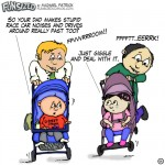 fun sized comics cartoon funny parenting comic dads pushing strollers making car noises
