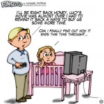 fun sized funny parenting comic daughter going to bed with movie playing over and over