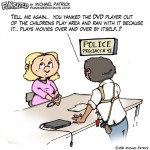 fun sized comic cartoon funny parenting comic mom at police station steals dvd player