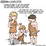 Fun sized comics funny parenting cartoon caveman old days dinosaurs kid with ADD ADHD