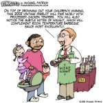 Fun sized funny parenting comic, wine, whino, alcohol, children, sale, french fries, barbeque sauce, drinking, whining