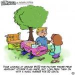 fun sized comics funny parenting cartoon power wheel in the repair shop
